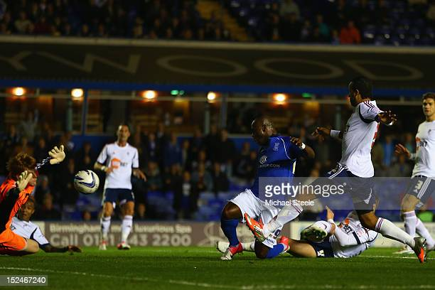 Leroy Lita of Birmingham City scores the opening goal during the npower Championship match between Birmingham City and Bolton Wanderers at St Andrews...