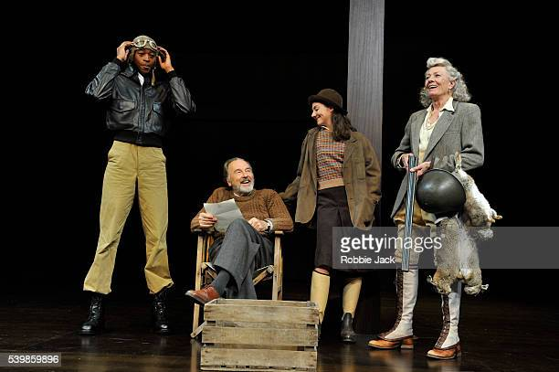 Leroy OseiBonsu as Messenger Michael Elwyn as Leonato Vanessa Redgrave as Beatrice and Beth Cooke as Hero in William Shakespeare's Much Ado About...
