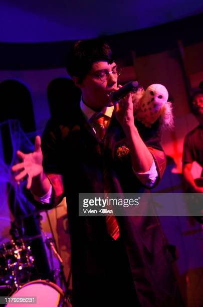 Leroy Sanchez performs at Podwall Entertainment's 10th Annual Halloween Party presented by Maker's Mark on October 31 2019 in West Hollywood...