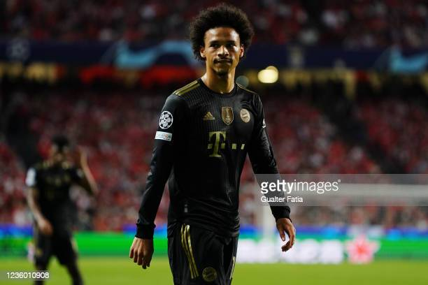 Leroy Sane of FC Bayern Munchen during the Group E - UEFA Champions League match between SL Benfica and Bayern Munchen at Estadio da Luz on October...