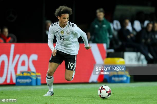 Leroy Sane of Germany controls the ball during the international friendly match between Germany and England at Signal Iduna Park on March 22 2017 in...