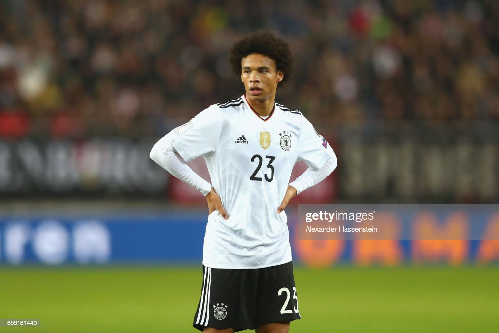 online store 143a1 f7057 Leroy Sane of Germany looks on during the FIFA 2018 World ...