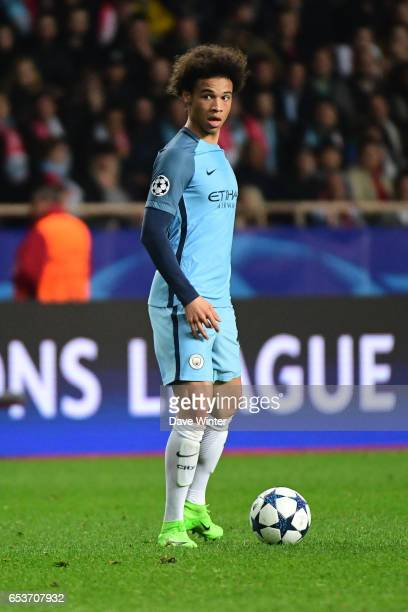 Leroy Sane of Manchester City during the Uefa Champions League match between As Monaco and Manchester City round of 16 second leg at Stade Louis II...