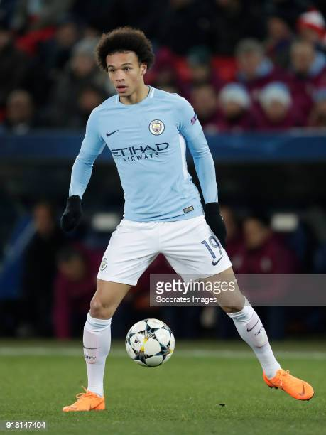Leroy Sane of Manchester City during the UEFA Champions League match between Fc Basel v Manchester City at the St JakobPark on February 13 2018 in...