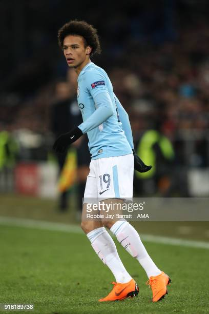 Leroy Sane of Manchester City during the UEFA Champions League Round of 16 First Leg match between FC Basel and Manchester City at St JakobPark on...