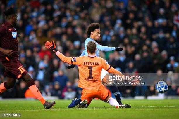 Leroy Sane of Manchester City scores his second goal during the UEFA Champions League Group F match between Manchester City and TSG 1899 Hoffenheim...