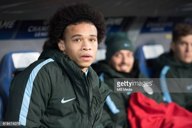 Leroy Sane on the bench during the UEFA Champions League Round of 16 First Leg match between FC Basel and Manchester City at St JakobPark on February...