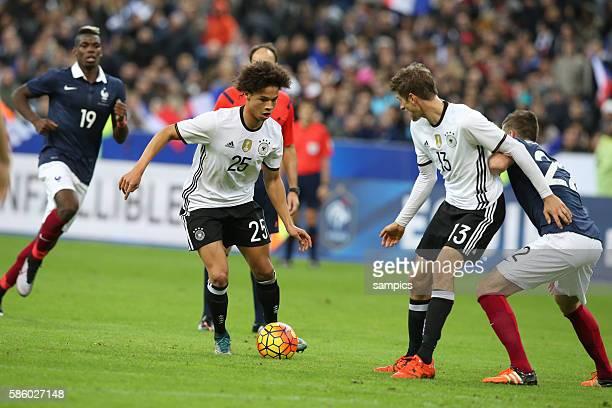 Leroy sane Thomas Müller Fussball Freundschaftsspiel : Frankreich - Deutschland Football friendly match national team France Germany