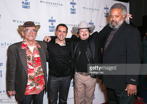 LeRoy Tessina director Blake Freeman Don Ray Walton and Prophet Yahweh attend 'A Journey To Planet Sanity' Los Angeles Premiere at Laemmle Monica...