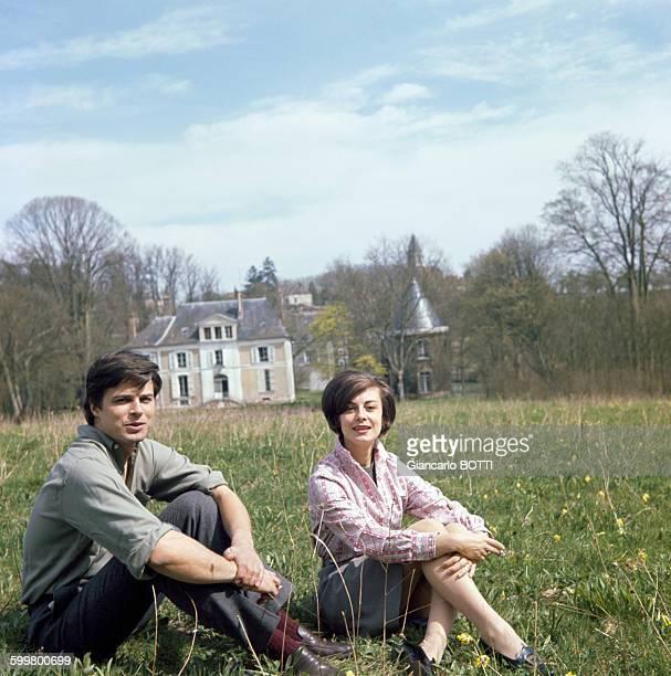 Les acteurs Jean Sorel et Anna Maria Ferrero circa 1960 en France