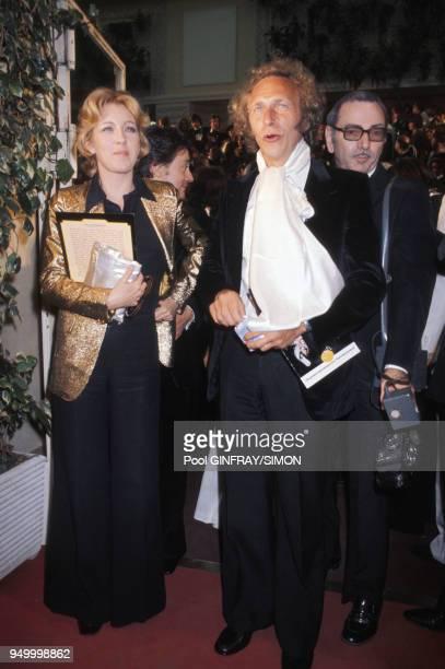 Les acteurs Marie Dubois et Pierre Richard au Festival de Cannes le 17 mai 1976 France