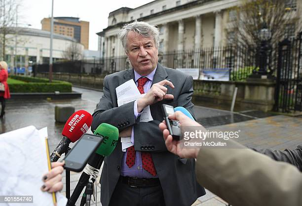 Les Allamby NI Human Rights Commissioner gives his reaction to reporters outside Belfast Magistrates' Court following Mr Justice Horner's landmark...