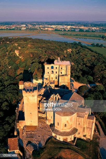 Les Alpilles: The abbey of Montmajour in France - Overlooks the plain to the northeast of Arles. The benedictine monks, its inhabitants for eight...