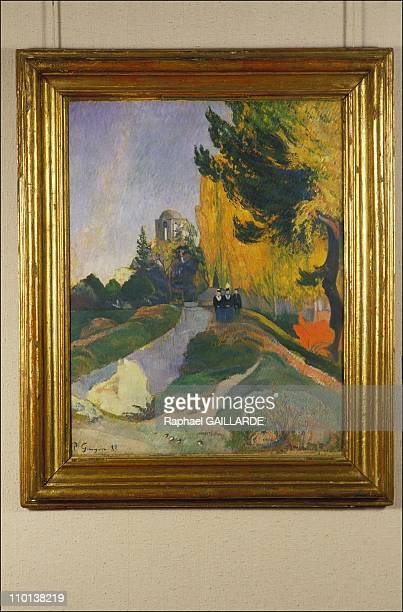 Les Alyscamps 1888' in exhibition of the works of Gauguin in Saint Germain en LayeFrance on November 7th1985