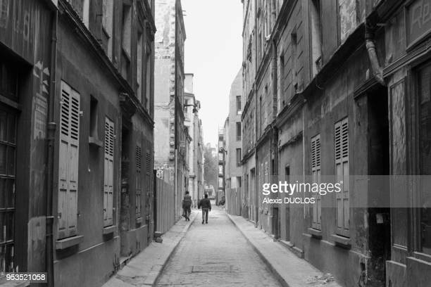 Les anciens immeubles délabrés de l'Ilot Chalon près de la Gare de Lyon sont peu à peu détruits pour laisser place à des immeubles neufs, Paris,...