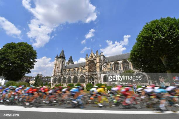 Les Andelys City / Collegiate Church Notre-Dame des Andelys / Cathedral / Peloton / Landscape / during the 105th Tour de France 2018, Stage 8 a 181km...