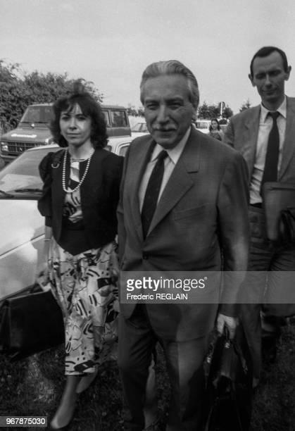 Les avocats MarieChristine Chastant et HenriRené Garaud le 16 juillet 1985 à Nancy France