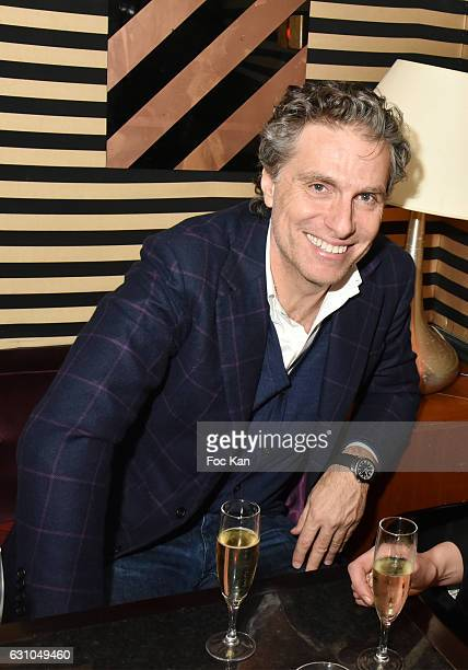 Les Bains de Paris owner Jean Pierre Marois attends the 'Nuit Bruce Nauman' screening party and performance of Amelie Pironneau at la Galerie du...