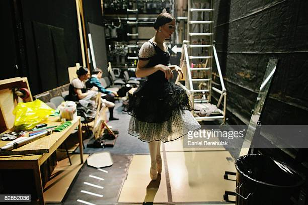 Les Ballets Trockadero de Monte Carlo performers prepare backstage on September 16 2008 in London England The all male troup of professional...