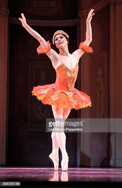 Les Ballets Trockadero de Monte Carlo Raymonda's Wedding Orange tutu dancer