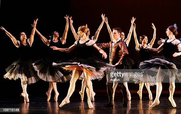 """Les Ballets Trockadero de Monte Carlo The all male ballerinas ballet troupe during a photocall performing a piece of """"Majisimas"""" the latest show that..."""