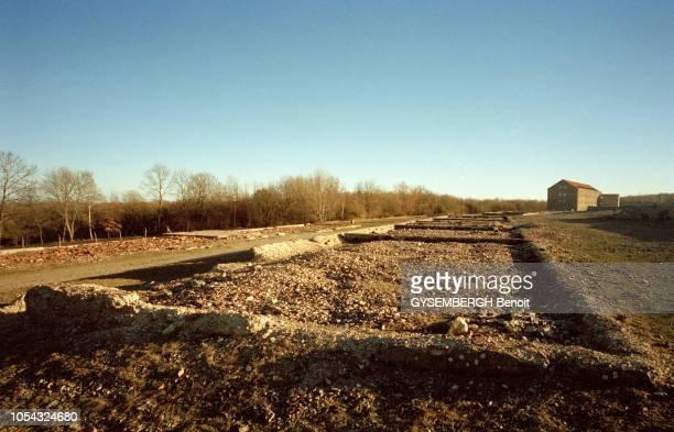 le camp de prisonniers et de concentration de Buchenwald près de Weimar en ALLEMAGNE Ici le 'terrain du camp' Au début des années 1950 les baraques...
