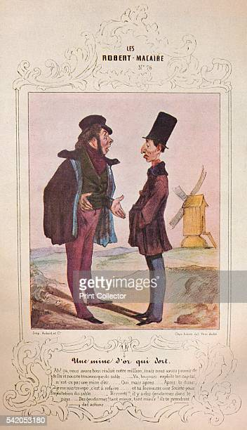 Les Cent et un Robert Macaire' 1840 From The Art of the French Book edited by André Lejard [Paul Elek London 1947] Artist Honore Daumier