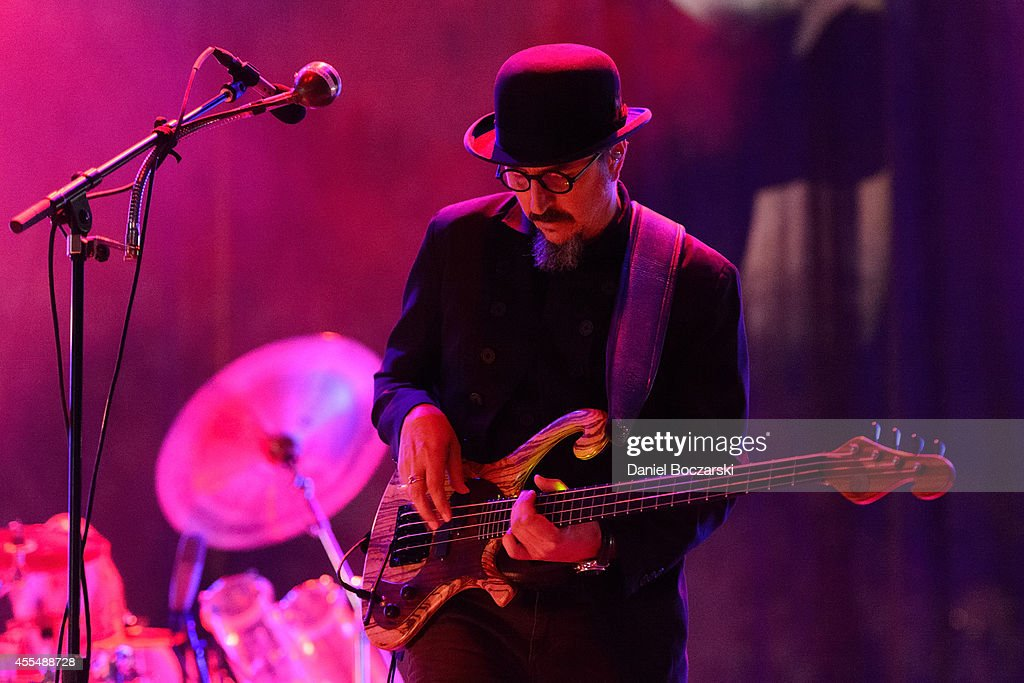 Les Claypool of Primus performs on stage at Riot Fest