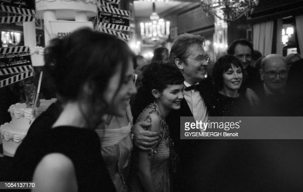 Les coulisses de la 25ème Nuit des César au Théâtre des ChampsElysées à PARIS le 19 février 2000 suivi d'un dîner au Fouquet's Charlotte GAINSBOURG...