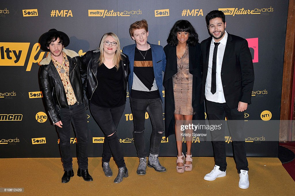 Les Cover Garden attend The Melty Future Awards 2016 at Le Grand Rex on February 16, 2016 in Paris, France.
