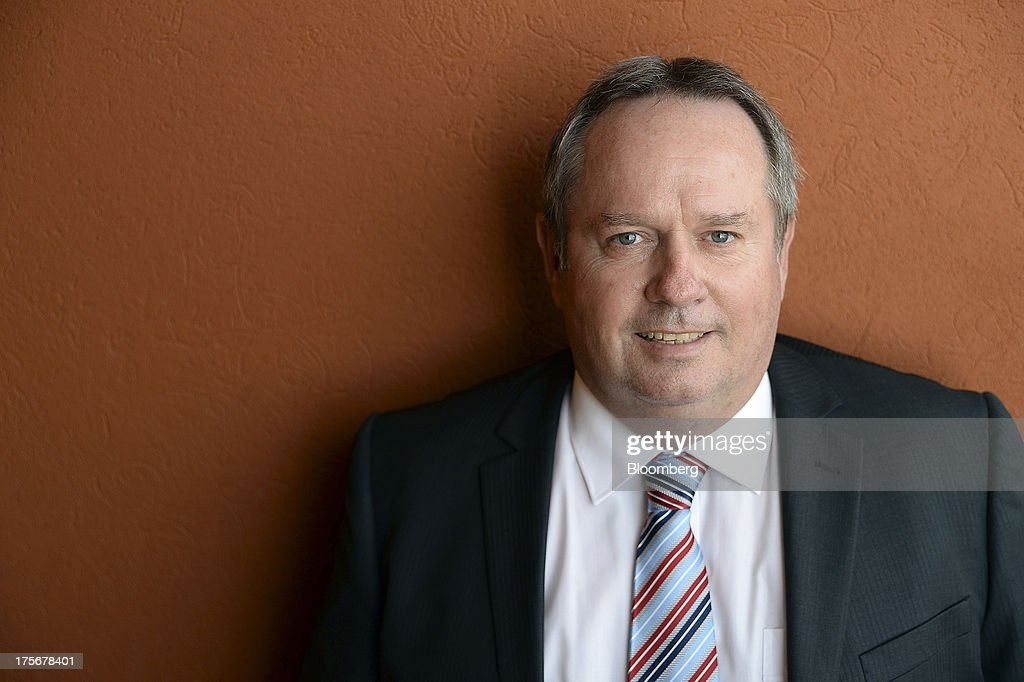 Les Davis, managing director of Silver Lake Resources Ltd., poses for a photograph during the Diggers and Dealers mining forum in Kalgoorlie, Australia, on Tuesday, Aug. 6, 2013. The Diggers and Dealers mining forum runs from Aug.5-7. Photographer: Carla Gottgens/Bloomberg via Getty Images