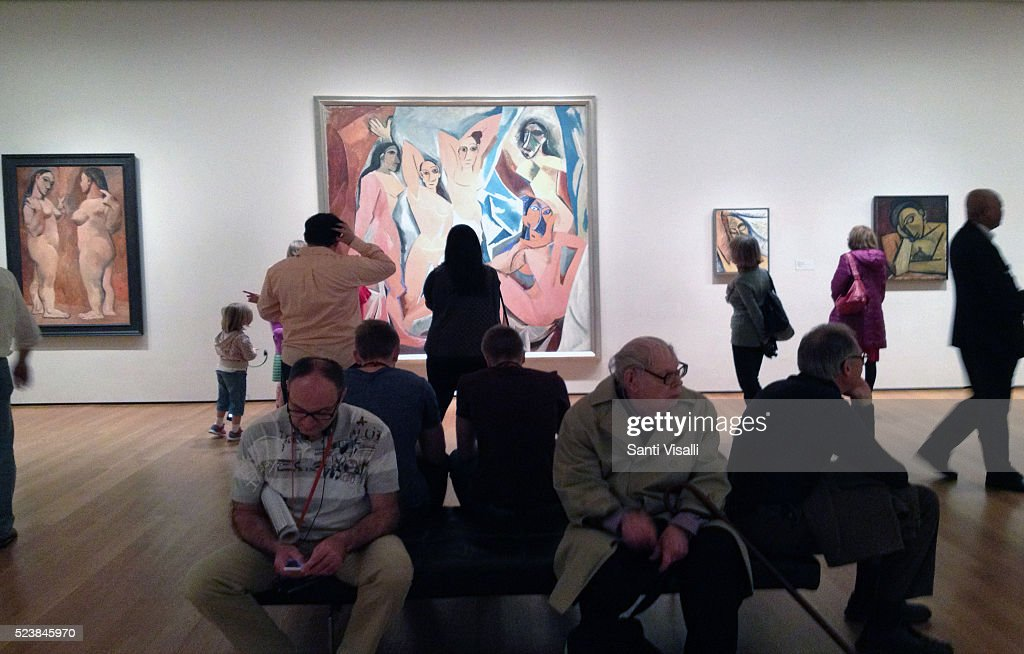Les Demoiselles d'Avignon By Picasso At Moma : News Photo