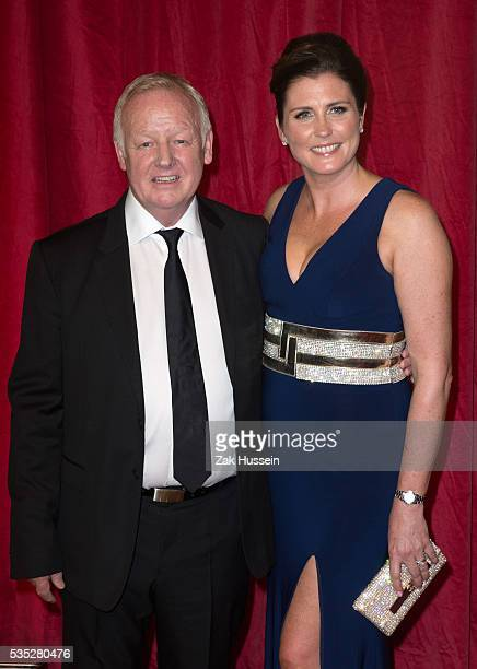 Les Dennis and Claire Nicholson arrive for British Soap Awards 2016 at Hackney Empire on May 28 2016 in London England