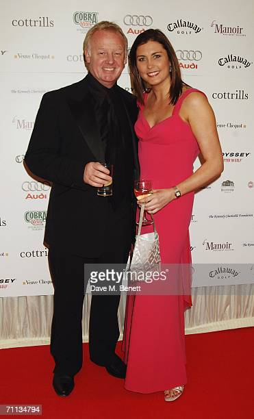 Les Dennis and Claire Nicholson attend a Gala Dinner in aid of the Five Star Scanner Appeal which aims to raise funds for the Greater Manchester...