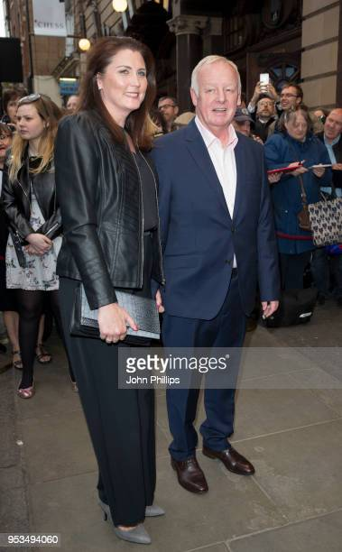 Les Dennis and Claire Nicholson attend Chess The Musical press night at London Coliseum on May 1 2018 in London England
