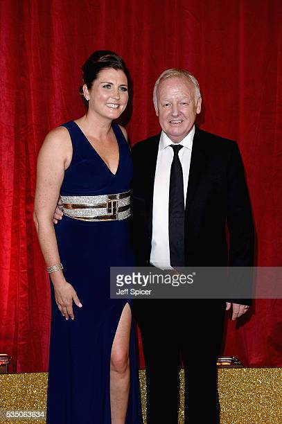 Les Dennis and Claire Nicholson attend the British Soap Awards 2016 at Hackney Empire on May 28 2016 in London England