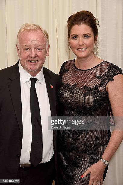 Les Dennis and Claire Nicholson attend the Daily Mirror Pride of Britain Awards in Partnership with TSB at The Grosvenor House Hotel on October 31...