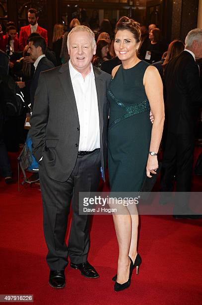 Les Dennis and Claire Nicholson attend the ITV Gala at London Palladium on November 19 2015 in London England