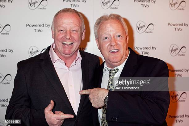 Les Dennis and Keith Chegwin attend the launch of Virgin Media TiVo at The House of St Barnabas on March 30 2011 in London England