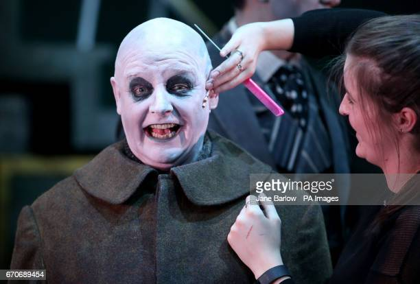 Les Dennis as Uncle Fester ahead of a dress rehearsal of The Addams Family musical which makes its UK Premiere at the Festival Theatre in Edinburgh...