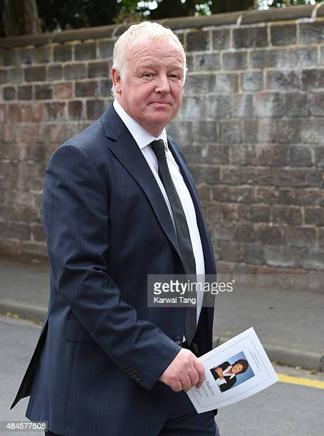 Les Dennis attends the funeral of Cilla Black at St Mary's Catholic Church on August 20 2015 in Liverpool England
