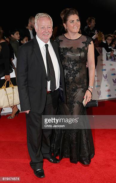 Les Dennis with his wife Claire Nicholson attends the Pride Of Britain awards at the Grosvenor House Hotel on October 31 2016 in London England