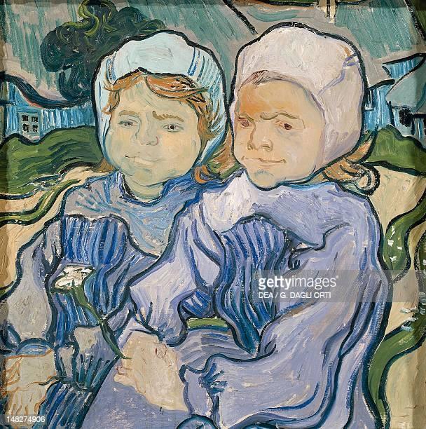 Les Deux Fillettes by Vincent van Gogh oil on canvas 51x51 cm Paris Musée D'Orsay