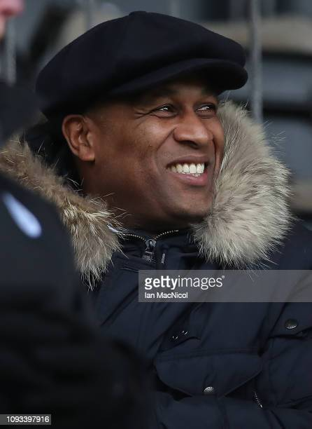 Les Ferdinand looks on during the Ladbrokes Premiership match between St Johnstone and Celtic at McDiarmid Park on February 3, 2019 in Perth, United...