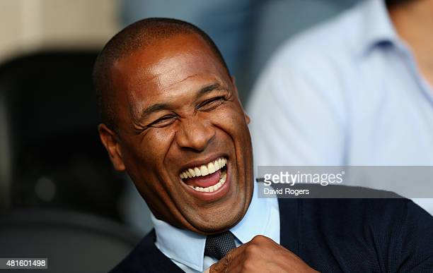 Les Ferdinand, the QPR director of football looks on during the pre season friendly match between Queens Park Rangers and Dundee United at The Hive...
