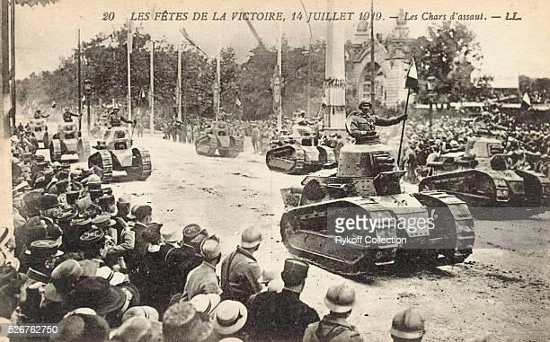 Les Fetes de la Victoire. 14 Julliet 1919 - Les Chars d'assaut. - LL.