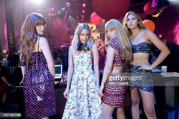 Les Filles attends the Alber Elbaz X LeSportsac New York Fashion Week Party at Gallery I at Spring Studios on September 5 2018 in New York City