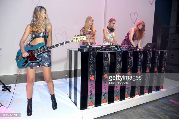 Les Filles performs at the Alber Elbaz X LeSportsac New York Fashion Week Party at Gallery I at Spring Studios on September 5 2018 in New York City