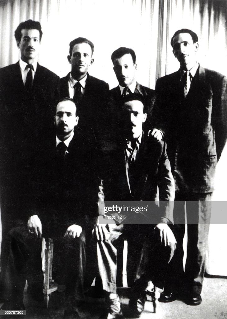 Les fils de la Toussaint (All Saints' Day sons), (group of the six founders of the F.LN., National Liberation Front) : News Photo