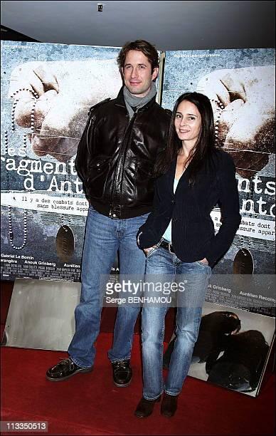 'Les Fragments D Antonin' Premiere On November 06Th 2006 In Paris France Here Gregori Derangere And Anouk Grinberg